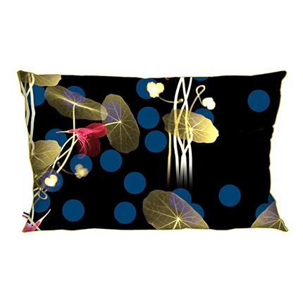 "Coussin velours 50x30 ""Point Noir"""