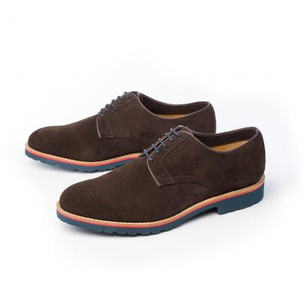 DERBIES JIM HYDROVELOURS MOCCA