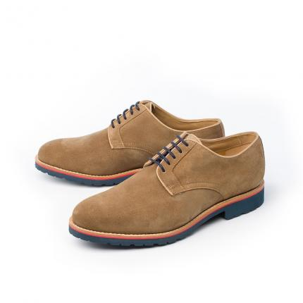 DERBIES JIM HYDROVELOURS TAUPE
