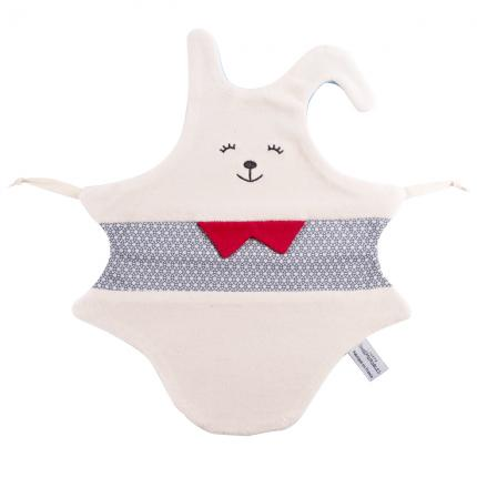 Doudou Lapin Bleu - Made in France, 100% coton