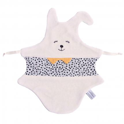 Doudou Lapin esprit Montessori - Made in France, 100% coton