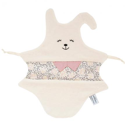 Doudou Lapin Rose - Made in France, 100% coton