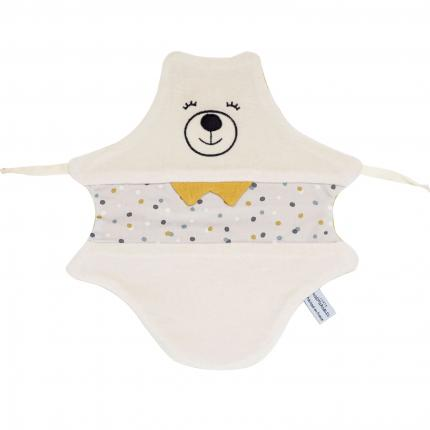 Doudou Ours Miel - Made in France, 100% coton